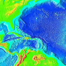 topography of the ocean floor