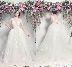 elie saab wedding dresses discount elie saab wedding dresses 2017 new v neck lace
