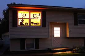 halloween silhouette windows