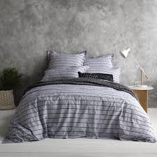 Chambray Duvet Cover Queen Chambray Stripe Queen Quilt Cover