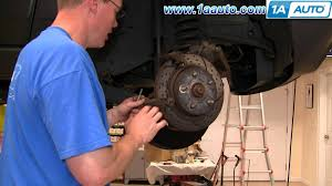 how to install replace front wheel hub bearing jeep grand cherokee