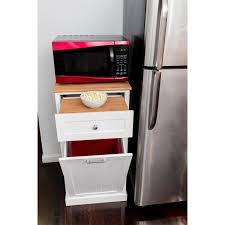 microwave cart with trash bin bestmicrowave corner ii cmc 800 microwave kitchen cart in white with hideaway