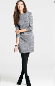 s business casual sweater dress like this idea for fall or