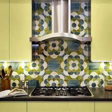 kitchen backsplash tile patterns backsplash patterns for the kitchen blue and green flower pattern