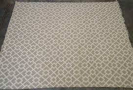 west elm flax metallic diamond kilim 8x10 rug ebay