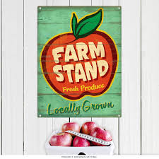 farm stand produce apple country kitchen sign kitchen signs
