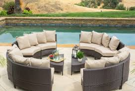 Circular Patio Seating Round Patio Sectional U0026 Elegant White Sahara Round Wicker