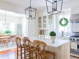 glass front cabinets white stone tile backsplash marble kitchen