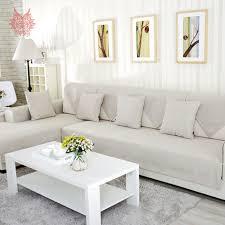 Modern Sofa Slipcovers American Modern Style Beige Melange Sofa Cover Cotton Linen