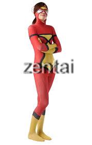 batman full body zentai suit red color batman spandex lycra zentai