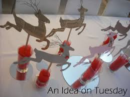 Flying Reindeer Christmas Decorations by An Idea On Tuesday Christmas On Tuesday