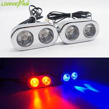 red and white led emergency lights 2pc lot car 2led strobe flashing emergency lights red blue white