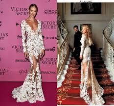 zuhair murad 2016 sheer lace evening dresses long sleeves v neck