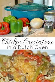 chicken cacciatore in a dutch oven artful homemaking