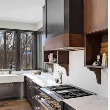 black walls white kitchen cabinets black windows wood cabinets in modern kitchen pella