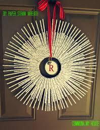 diy paper straw wreath design dazzle
