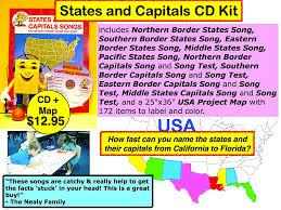 State Capitals Map Kathy Troxel Audio Memory 800 365 Sing Call To Order