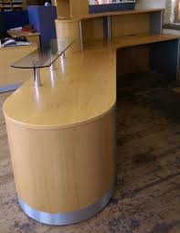 Oak Reception Desk Reception Desks Used White Kitchen Cabinets With Doors Drawers
