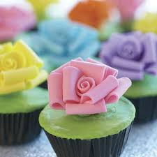 cupcake tops plant these pastel roses on cupcake tops for a feel