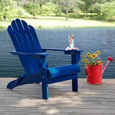 Adirondack Outdoor Furniture Garden Oasis Adirondack Chair Blue