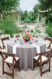 table linens for wedding gray linens at reception wildflowers bird and wedding