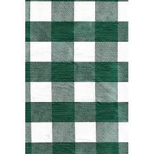 Patio Table Cover With Zipper Green White Check Vinyl Patio Tablecloth With Umbrella Hole And