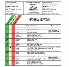 vehicle inspection report template vehicle inspection report template tm sheet
