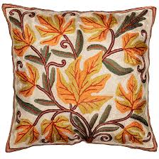 Pillow Covers For Sofa by Maple Crimson Fall Pillow Cover Chinar Hand Embroidered 16 X 16