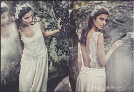 hippie wedding dresses discount backless vintage boho hippie wedding dresses laure