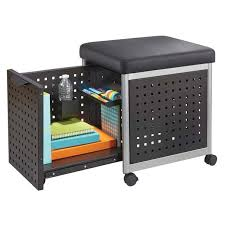 Mobile File Cabinet Safco Products Scoot Mobile File Cabinet With Cushion Seat