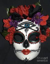 Skeleton Mask Custom Sugar Skull Mask 3 Sculpture By Mitza Hurst