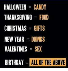 Halloween Birthday Meme - halloween candy thanksgiving food christmas gifts new year drinks