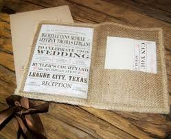 burlap wedding invitations rustic wedding invitation burlap wedding invitation 3 00 via