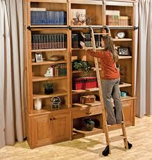 Rolling Ladder Bookcase by Rolling Ladder Library Fubctionality And Glide Beautiful