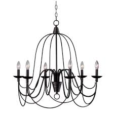 Black Metal Chandelier Kenroy Home Pannier 6 Light Rubbed Bronze With Silver