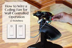 how to wire a ceiling fan with 2 switches how to install a ceiling fan pretty handy