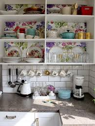 Best  Wallpaper Cabinets Ideas Only On Pinterest Open - Kitchen cabinet wallpaper