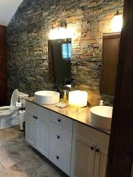 bathroom accent wall ideas stone accent wall bathroom bath remodel solid surface shower with
