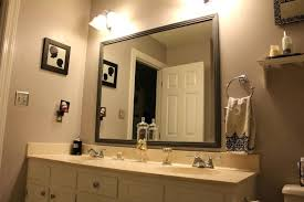 framed bathroom mirrors brushed nickel nickel bathroom mirror best bathrooms design large framed bathroom