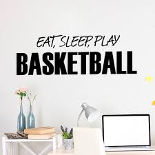 aliexpress com buy wall sticker quotes art home decor eat sleep aliexpress com buy wall sticker quotes art home decor eat sleep play basketball art decals kids boy room decor wall stickers for boys rooms from reliable