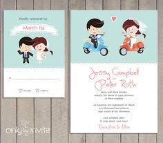 Cool Wedding Invitations Vespa Scooter Wedding Invite Funny Wedding Invitation Cartoon
