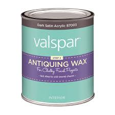 shop valspar dark satin acrylic satin acrylic antiquing wax
