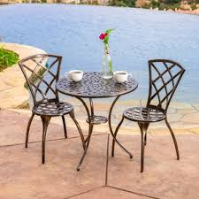 Round Patio Furniture Set by Round Patio Dining Sets You U0027ll Love Wayfair