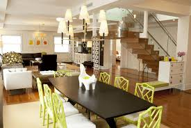 Jonathan Adler Drapes Green Bamboo Chairs Contemporary Dining Room Lily Z Design