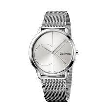watches men ck minimal logo case mm 40 steel