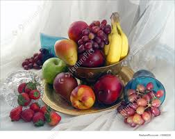 image of fruit bowl and goblets