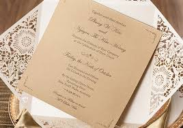 free wedding invite sles aliexpress buy hot sales white wedding invitations brown