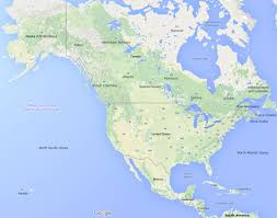 United States And Mexico Map by Map Pins In Eastern United States Canada Stock Photo Royalty East