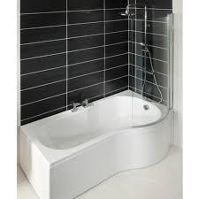 Curved Shower Bath P Bath