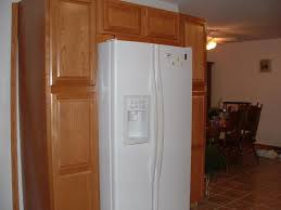 Kitchen Cabinets Construction Cabinets Build Around A White Refrigerator Dont Like The Fridge